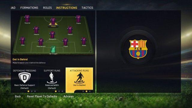 FIFA 15 gestión equipo