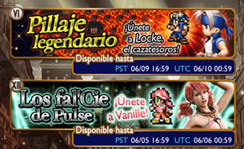 Vanille y Locke Final Fantasy Record Keeper: Locke y Vanille disponibles esta semana