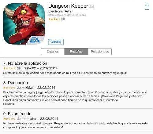 dungeon keeper micropagos