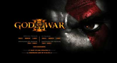 web oficial god of war 3