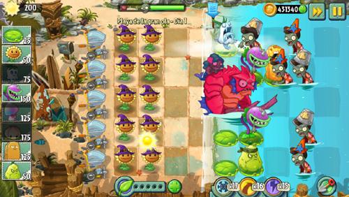 zombistein del lago Plants Vs Zombies 2: Llega el playero sexto mundo