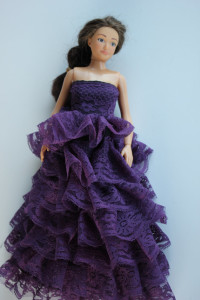 Lammily Purple Lace Dress from Tina's Tiny Creations