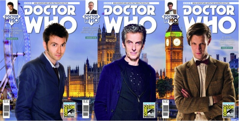 Titan Comics Tenth Eleventh and Twelfth Doctor Covers