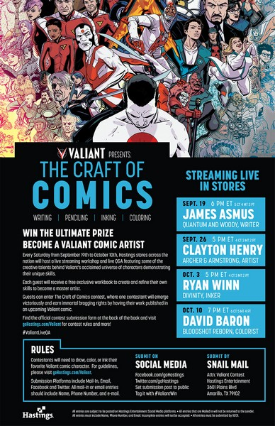 Craft of Comics Schedule