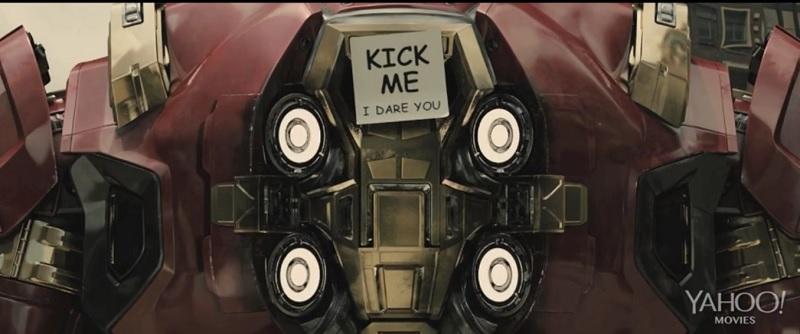 Hulk Buster with Kick Me  Sign Avengers Gag Reel