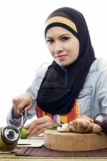 muslimah memasak