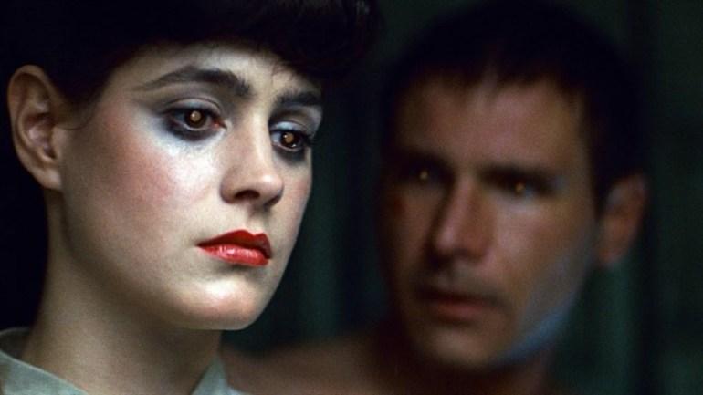 Rick Deckard (Harrison Ford) y la Replicante (Robot, Sean Young) Rachel - Blade Runner