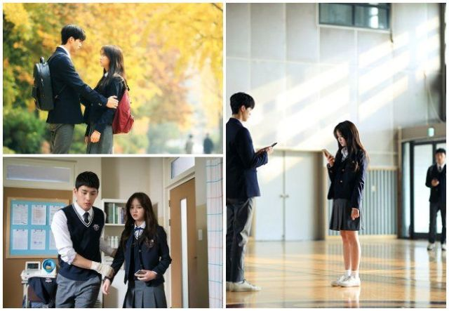 "Kim So Hyun junto a Song Kang y Jung Ga Ram en ""Love Alarm"""