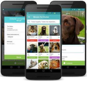 La app se ve así de bien en el móvil y es gratuita. Es perfecta para dar un perro en adopción.