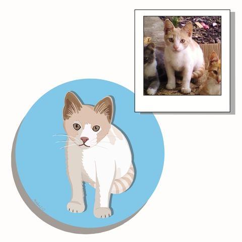 retratos de mascotas gato