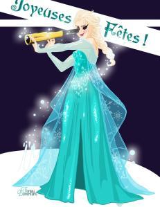 carte de voeux 2013 Elsa Reine des Neiges Disney Fanny Bonenfant illustrations