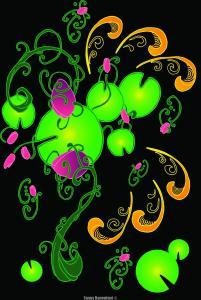 motif Roses d'étang par Fanny Bonenfant designer textile