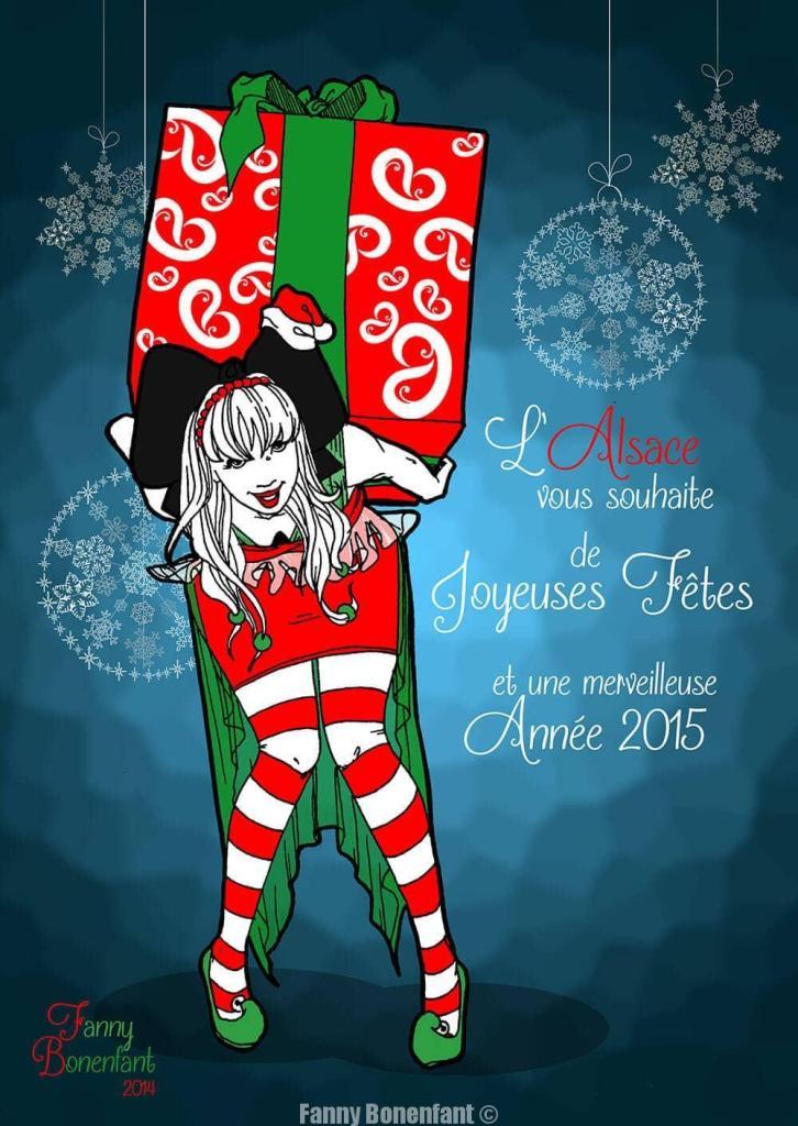 louisa alsace carte de voeux 2015 fanny bonenfant illustration fleurus mango éditions