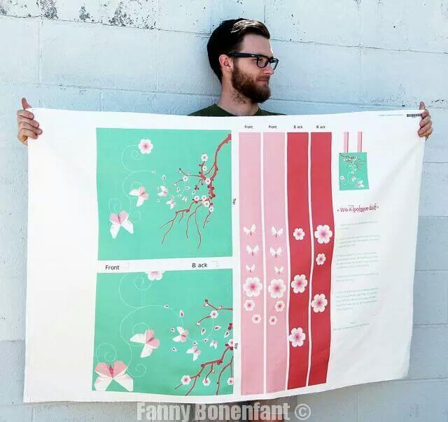 Impression de motifs sur tissu