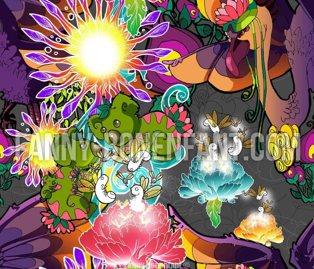 Cosmic Voyage Fanny Bonenfant illustrations design textile motif