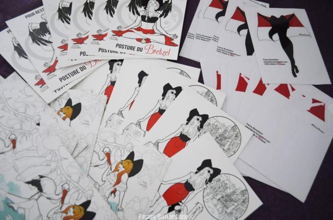 Déstockage massif illustrations cartes postales et sticker Alsacienne