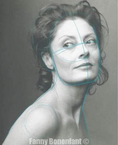 Dessin à main levée d'un portrait à partir d'une photo - Fanny Bonenfant