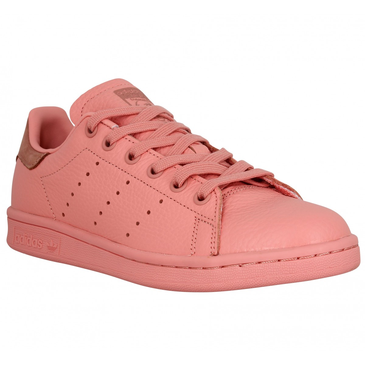 Adidas Stan Smith Cuir Femme Rose Femme Fanny Chaussures