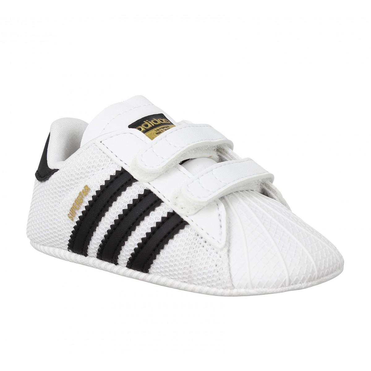 Adidas Superstar Crib Enfant Blanc Noir Enfants Fanny
