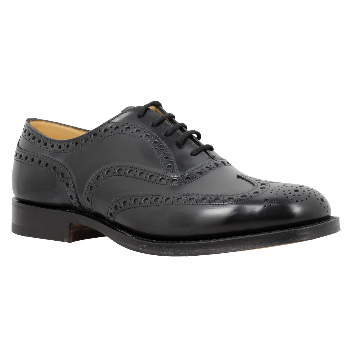 Church S Burwood Cuir Homme Noir Fanny Chaussures