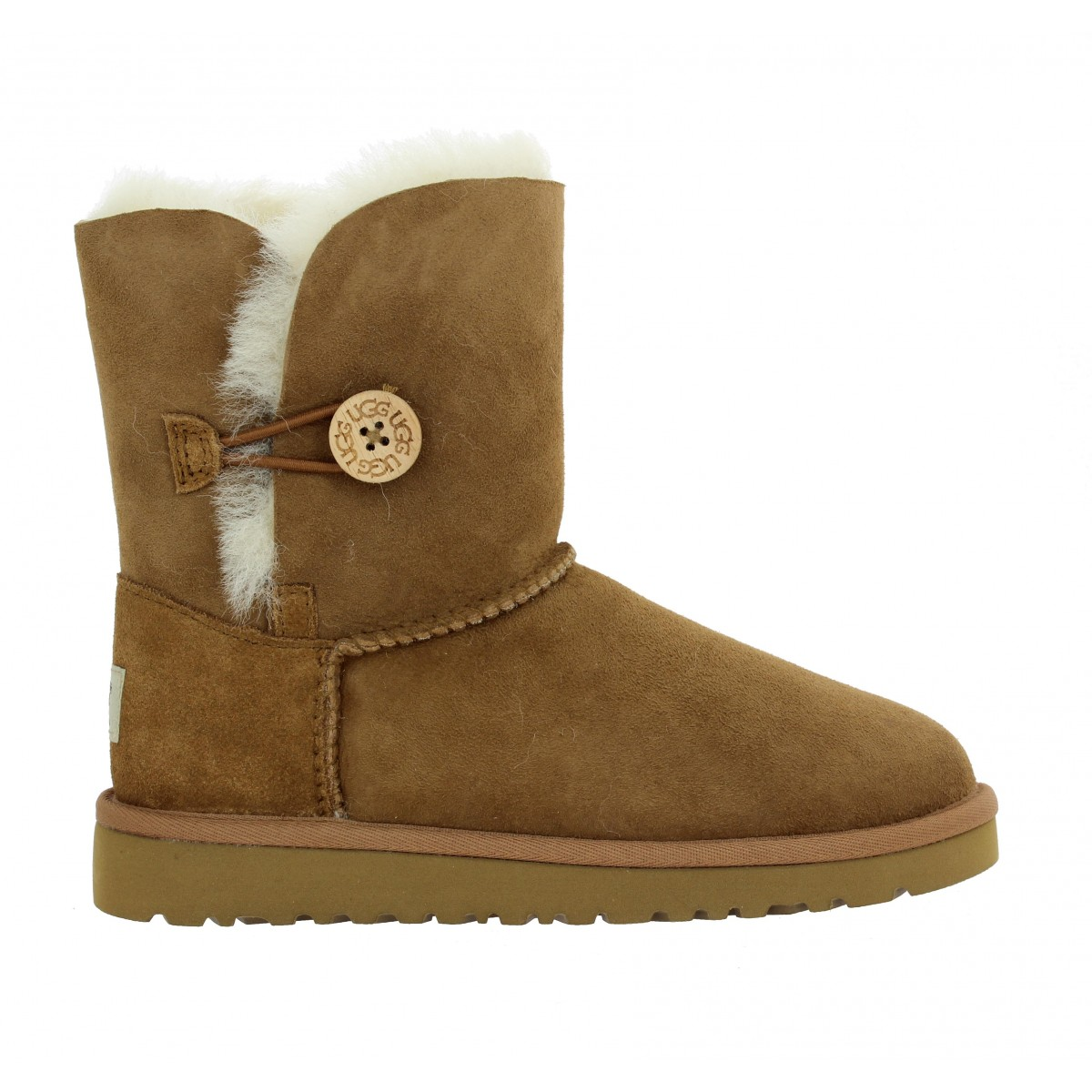 Ugg Australia Bailey Button Velours Enfant Chestnut