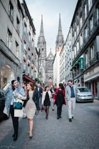 Visite du centre ville de clermont-ferrand la veille d'un mariage. Balade rue des gras.