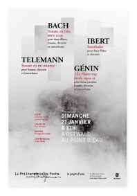 Affiche Philharmonie de Poche Bach Telemann Genin Ibert