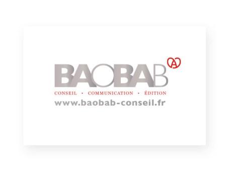 Carte de visite Baobab Recto