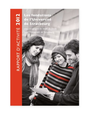 Rapport 2012 Fondation Universite Strasbourg - couverture