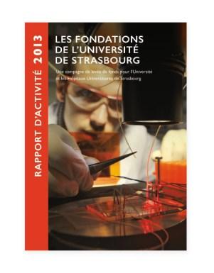 Rapport 2013 Fondation Universite Strasbourg - couverture