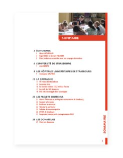 Rapport 2014 Fondation Universite Strasbourg - 2