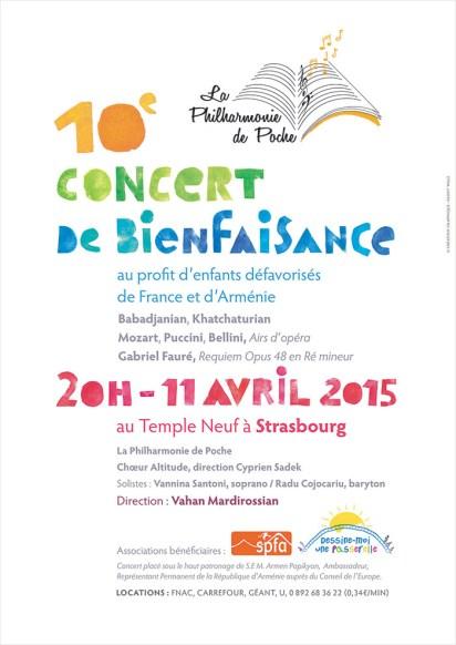 Affiche 2015 Concert de bienfaisance de la Philharmonie de Poche © Fanny Walz