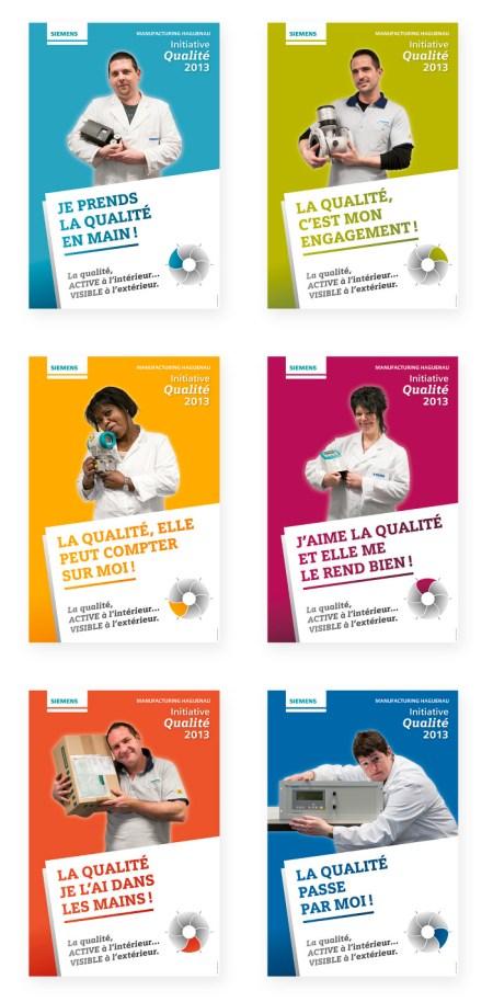 Affiches Initiative Qualité Siemens © Fanny Walz