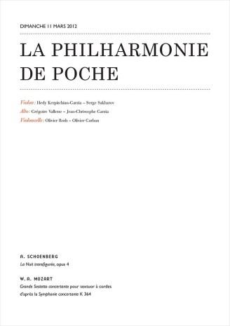 Programme Concert La Philharmonie de Poche