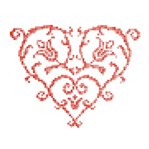 Cœur brodé 6