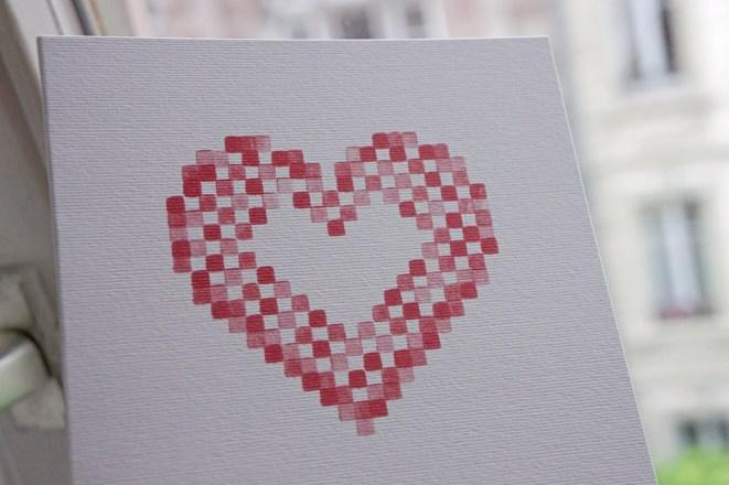 Faire part mariage motif Cœur