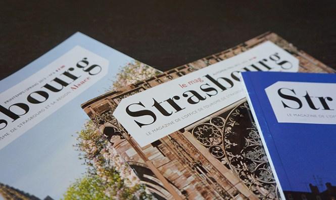 Le magazine de l'Office de Tousirme de Strasbourg et sa Région. Couvertures.