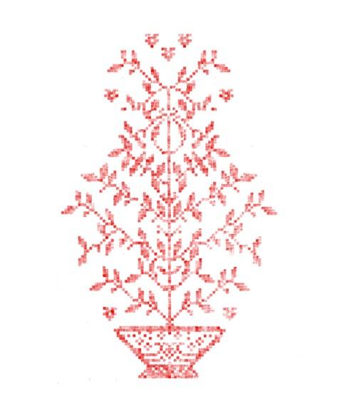 Motif arbre de vie alsacien brodé