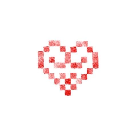 Cœur alsacien brodé 10