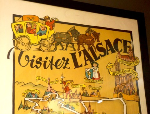 Affiche Visitez l'Alsace – Hansi