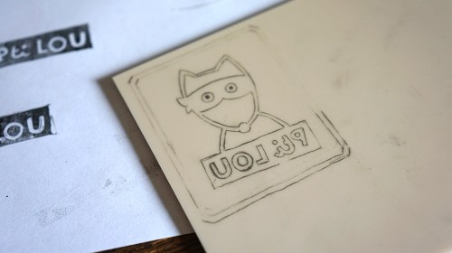 Report du dessin du logo Pti Lou