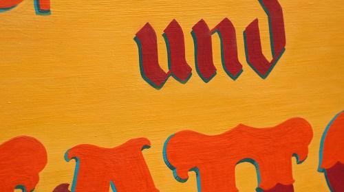 Détail lettre peinte Gribouilles und Tattoo