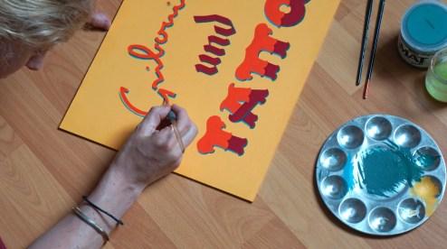 Peinture Gribouilles und Tattoo