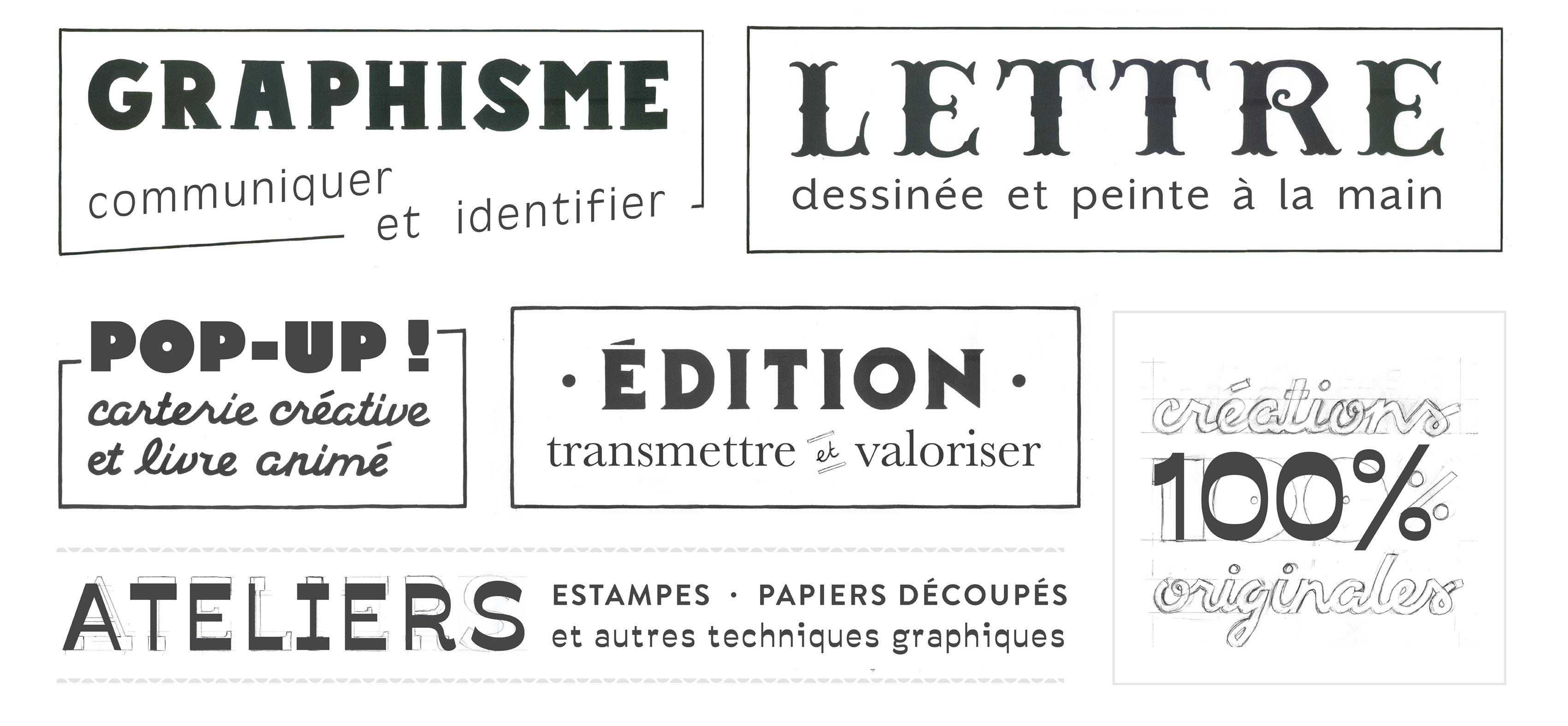 Graphisme Lettres peintes Fanny Walz