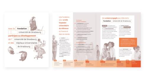 Plaquette Fondation Université Strasbourg