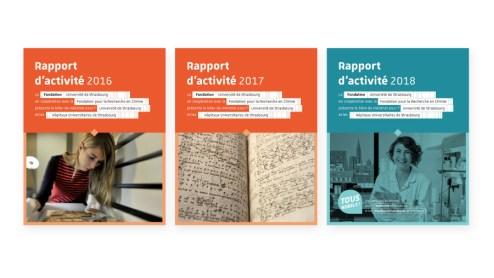Rapports d'activité Fondation Université Strasbourg