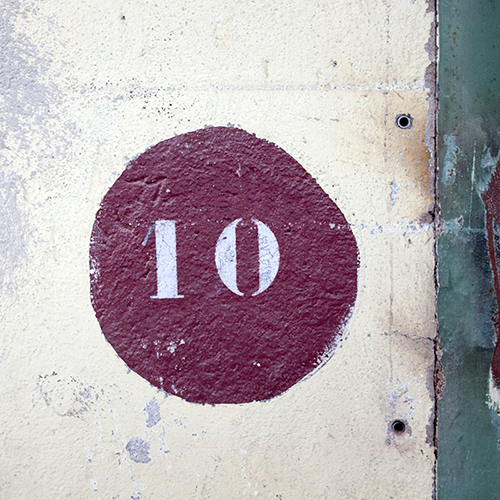 Chiffre 10 Mur