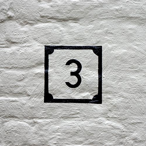 Chiffre 3 Mur