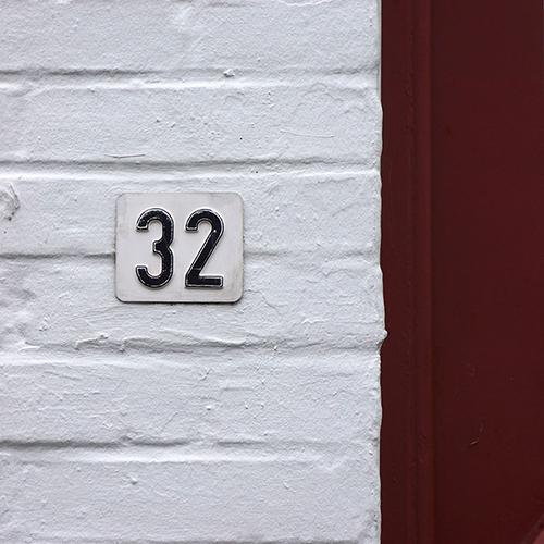 Chiffre 32 Numéro Rue