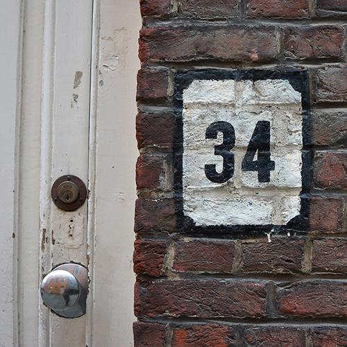 Chiffre 34 Numéro Rue